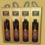 Parafa díszítésű boros doboz