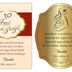 Esküvői boroscímke