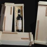 Gravírozott fadoboz, ajándék bor
