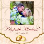 Boroscímke esküvőre